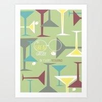 gatsby Art Prints featuring Gatsby by Jennifer Epstein