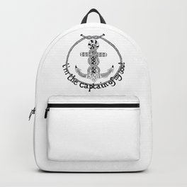 I'm the captain of my soul Backpack
