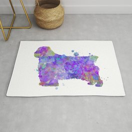 Clumber Spaniel Watercolor Painting Rug