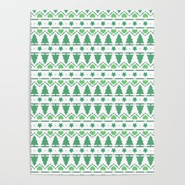 Christmas Tree Pattern- Green Poster