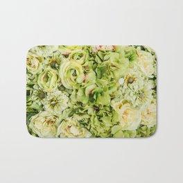 Green Flowers Bath Mat