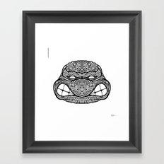 Teenage Mutante Lucha Turtles Framed Art Print