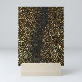 Black Gold Snake Skin Mini Art Print