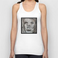 bad wolf Tank Tops featuring Bad Wolf  by Chrissie Brown Art