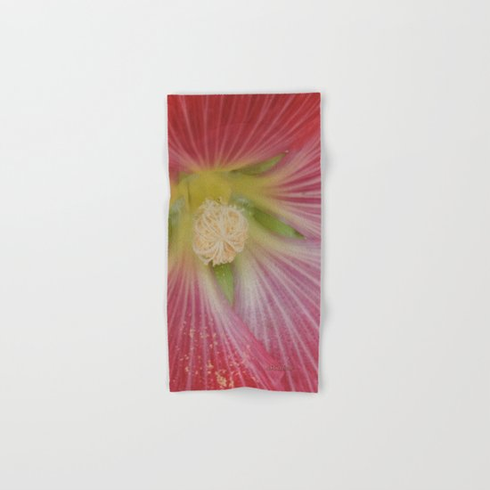 Heart of a Hollyhock Blossom Hand & Bath Towel