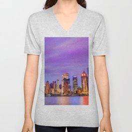 Shanghai - World Big City Unisex V-Neck