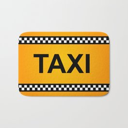 TAXI Sign Bath Mat