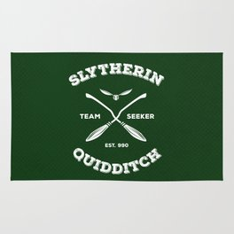Slytherin Quidditch Team Seeker: Green Rug