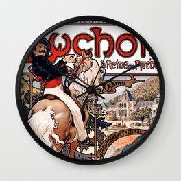 Alphonse Mucha Luchon 1895 Wall Clock