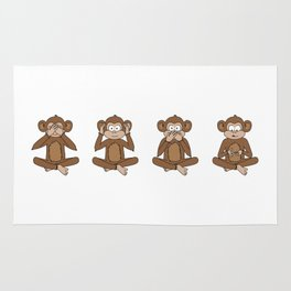 Four Wise Monkeys Rug