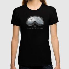 Ski Vermont Ski Goggles — Black with VT Mountains T-shirt