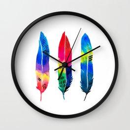 Tropical Quills Wall Clock