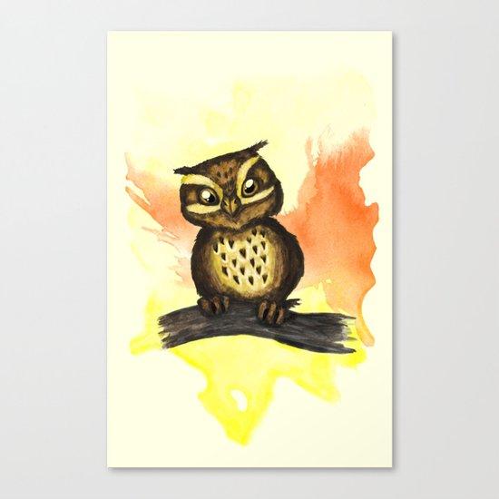 Cute owl. Canvas Print