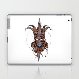 Male Venetian Jester Mask | Watercolor and Colored Pencil  Laptop & iPad Skin