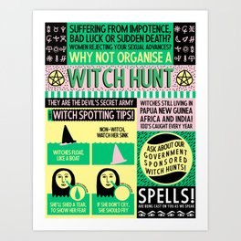 Witches Alive Today Art Print
