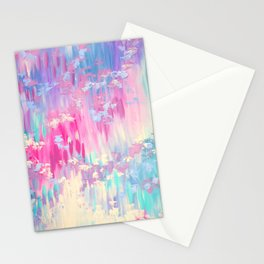 abstract pink Stationery Cards