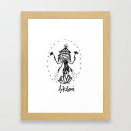 Lakshmi: Goddess of Abundance Framed Art Print