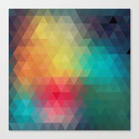 reassurance Canvas Prints featuring Abstract Geometric Pattern by Rothko