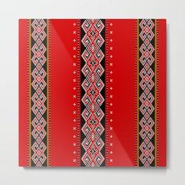 TANA TORAJA FABRIC MOTIF Metal Print