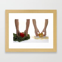 You are what you eat. Framed Art Print