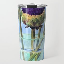 Artichoke flowers Travel Mug
