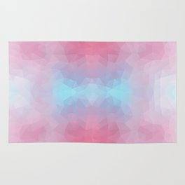 Mozaic design in soft colors Rug
