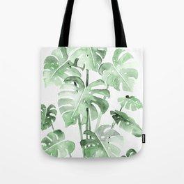 Delicate Monstera Green #society6 Tote Bag