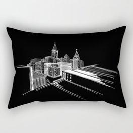 Vibrant City Black Background Rectangular Pillow