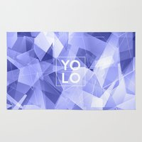 sayings Area & Throw Rugs featuring Dreams of YOLO Vol.3 by HappyMelvin