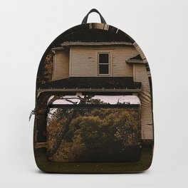 house yard forest trees hacienda autumn Backpack