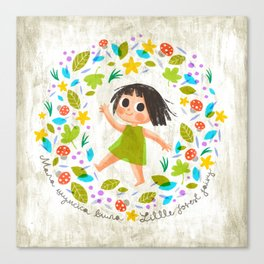 Little Forest Fairy Canvas Print