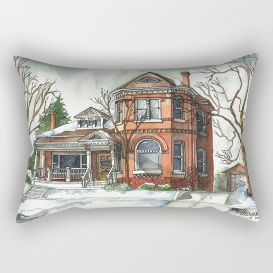 Victorian House in The Avenues Rectangular Pillow