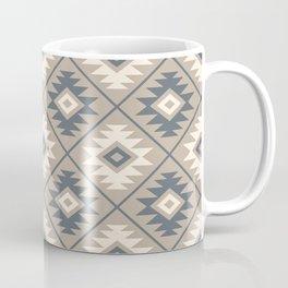 Aztec Symbol Stylized Pattern Blue Cream Sand Coffee Mug