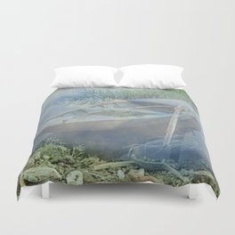 Lonely again in the fog Duvet Cover