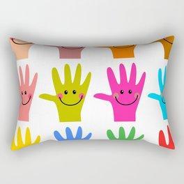 Happy Hands Rectangular Pillow