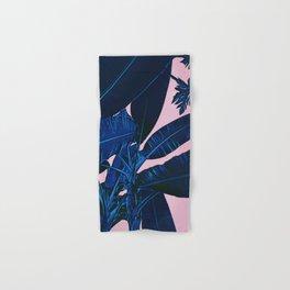 Midnight Blue Banana Leaves Hand & Bath Towel