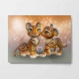 Tiger Kiss Metal Print