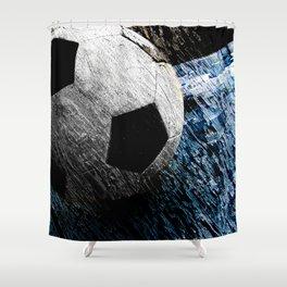 Soccer art variant vs 1 Shower Curtain