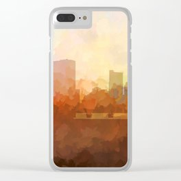 Columbus, Ohio Skyline - In the Clouds Clear iPhone Case