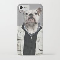 english bulldog iPhone & iPod Cases featuring English Bulldog Worker by Life on White Creative
