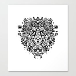 Lion Mandala Canvas Print