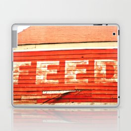 rustic feed sign Laptop & iPad Skin