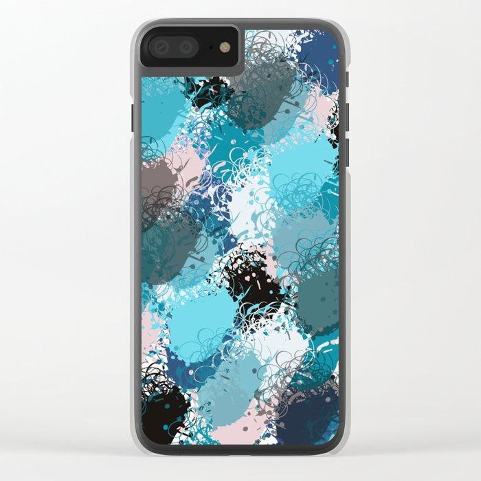 Abstract pattern 68 Clear iPhone Case