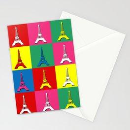 Pop art Paris Stationery Cards