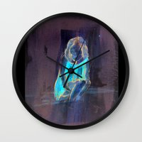 child Wall Clocks featuring child by Marilina Marchica