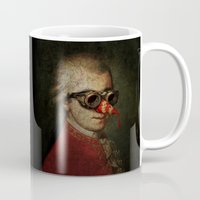 mozart Mugs featuring Surreal Steampunk Mozart by Paul Stickland for StrangeStore