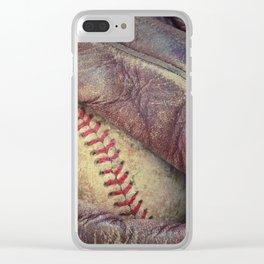 Baseball II Clear iPhone Case