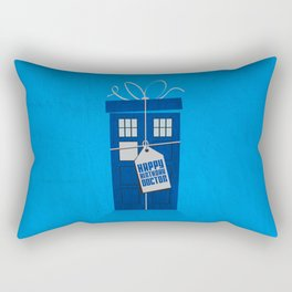 What's in the blue box? (Doctor Who) Rectangular Pillow