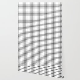 Black and White Grid Graph Wallpaper