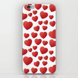 Hearts Pattern iPhone Skin